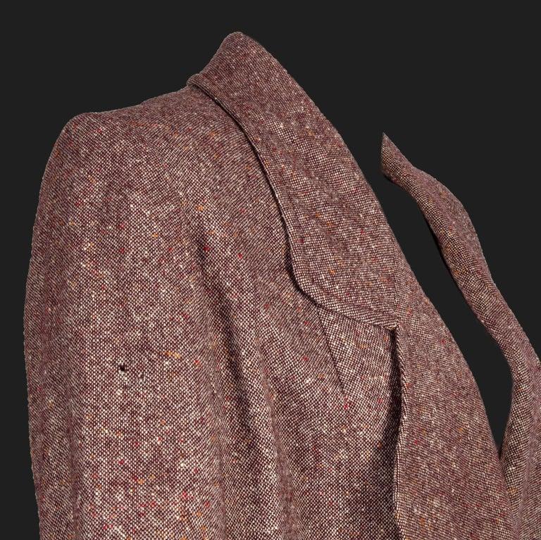 Bill Gibb 1970s Vintage Rare Tweed Maxi Wrap-Around Coat  For Sale 5