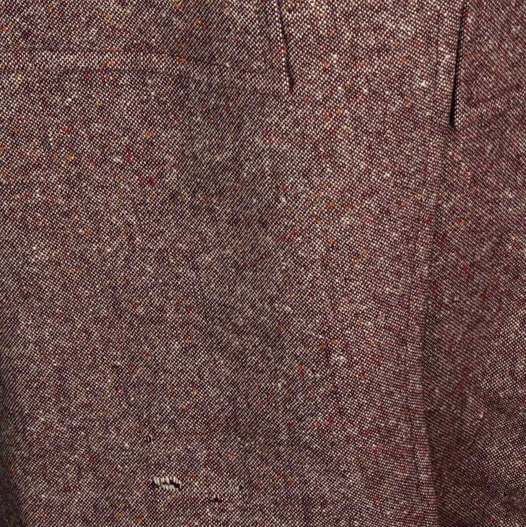 Bill Gibb 1970s Vintage Rare Tweed Maxi Wrap-Around Coat  For Sale 6