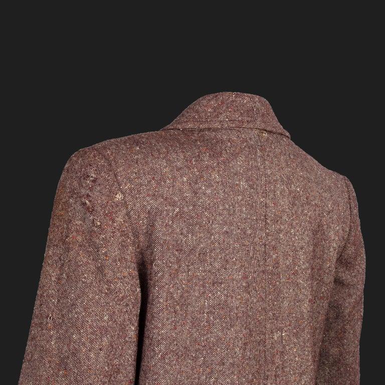 Bill Gibb 1970s Vintage Rare Tweed Maxi Wrap-Around Coat  For Sale 7