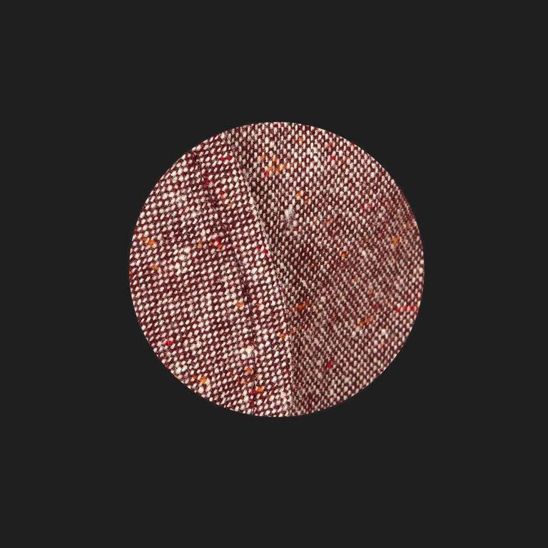 Brown Bill Gibb 1970s Vintage Rare Tweed Maxi Wrap-Around Coat  For Sale