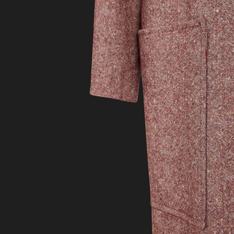 Bill Gibb 1970s Vintage Rare Tweed Maxi Wrap-Around Coat  In Fair Condition For Sale In , GB
