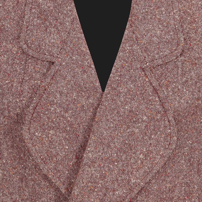 Women's Bill Gibb 1970s Vintage Rare Tweed Maxi Wrap-Around Coat  For Sale