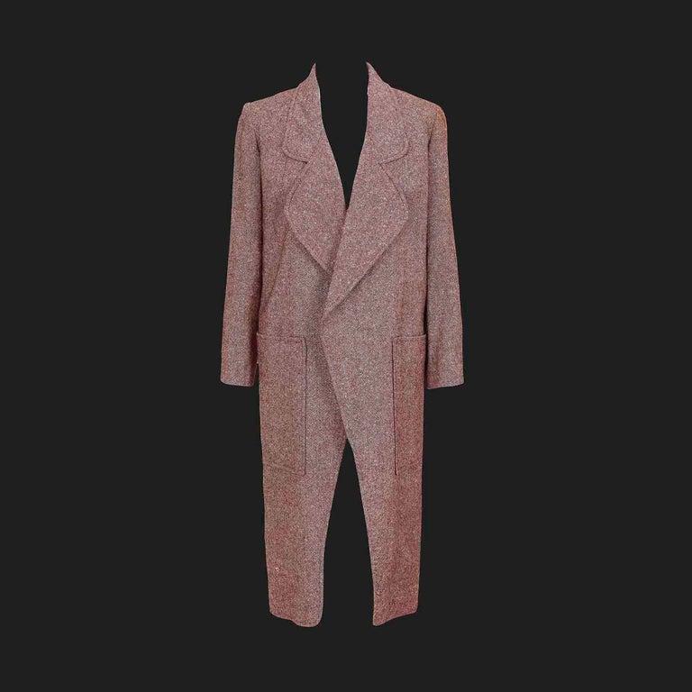 Bill Gibb 1970s Vintage Rare Tweed Maxi Wrap-Around Coat  For Sale 1
