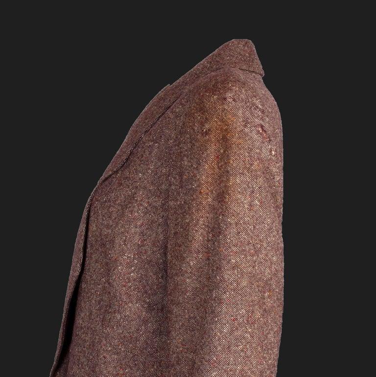 Bill Gibb 1970s Vintage Rare Tweed Maxi Wrap-Around Coat  For Sale 4
