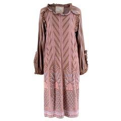 Bill Gibb for Annette Carol Patterned Knitted Dress - Size US8