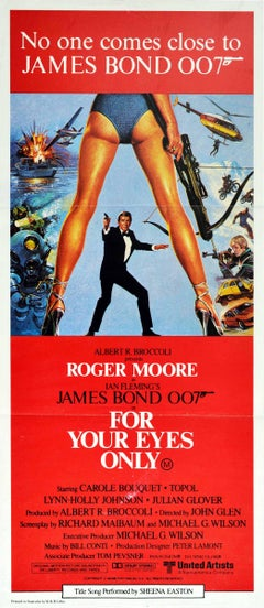 Original Vintage Film Poster James Bond 007 For Your Eyes Only Australia Release