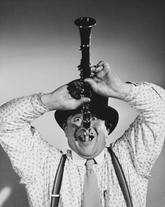 Buddy Hackett Comical Portrait with Clarinet Globe Photos Fine Art Print
