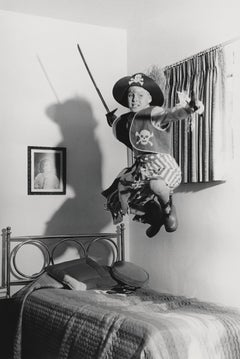 Jay North Jumping in Pirate Costume Globe Photos Fine Art Print