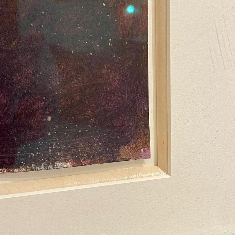 Bill Kohn 'San Nicolas' Acrylic on Paper framed in Walnut 1986 For Sale 5