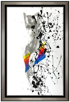 Bill Mack Charisma Original Acrylic Painting Hand Signed Female Nude Framed Art