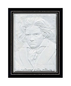 Bill Mack Bonded Sand Relief Sculpture Large Original Signed Artwork Beethoven