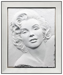 Bill Mack Marilyn Monroe Bonded Sand Sculpture Legend Hand Signed Alto Relief