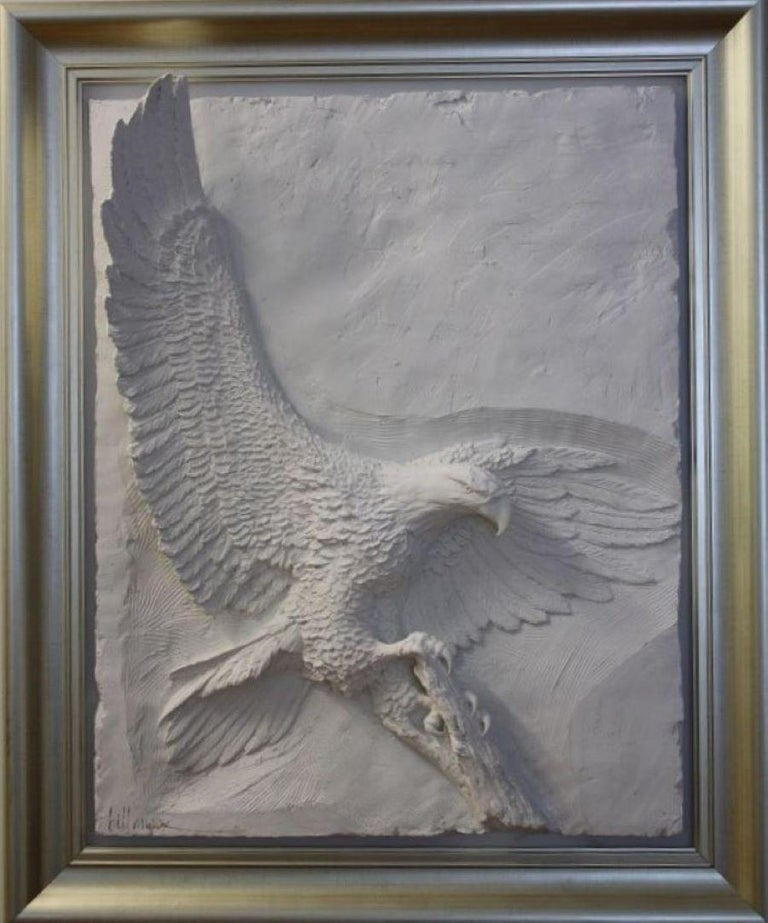 Majesty-Framed, Limited Edition Bonded Sand Sculpture. Signed by Artist.  - Gray Still-Life Sculpture by Bill Mack