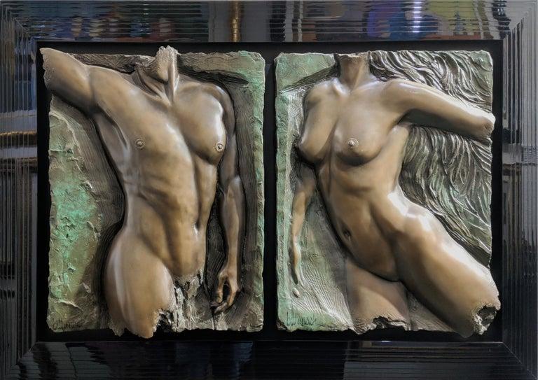 SPIRIT VALIANT DIPTYCH (BRONZE) - Sculpture by Bill Mack