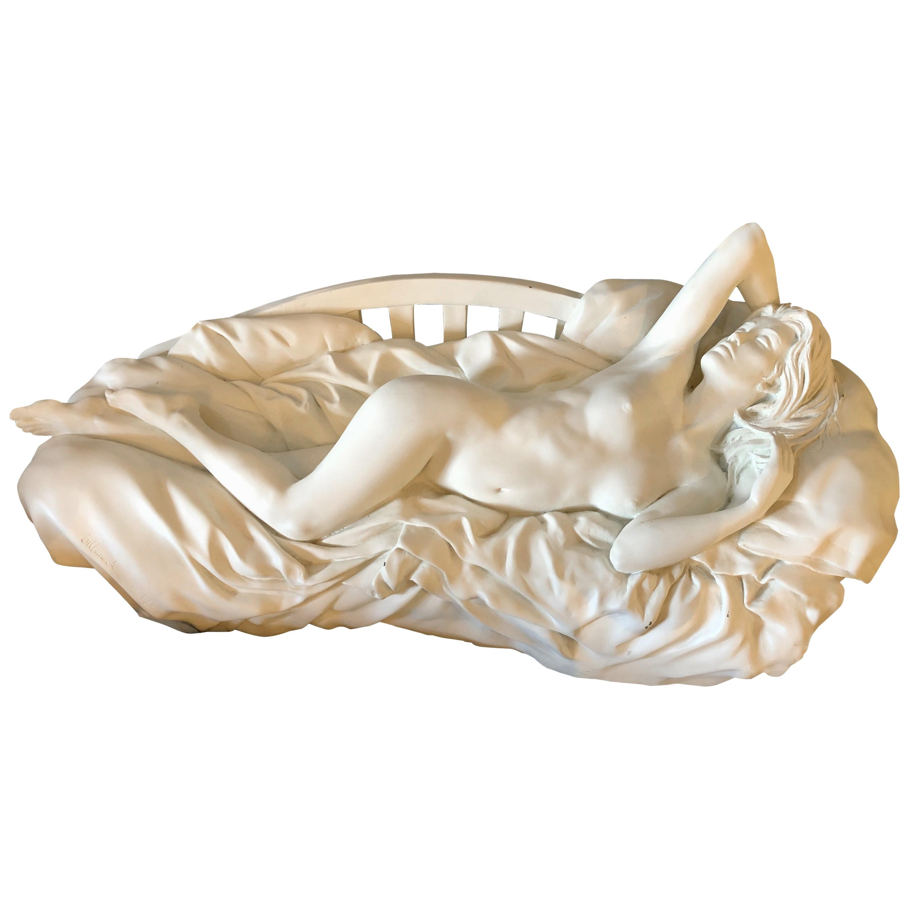 Bill Mack Tranquility Sculpture Bronze with White Patina