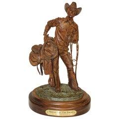"""Bill Nebeker Bronze Statue """"Mornin' Call for Horses"""""""