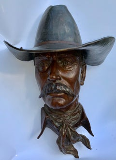 Bronze Cowboy Wall Mount edition # 13/25, LARGE 19""