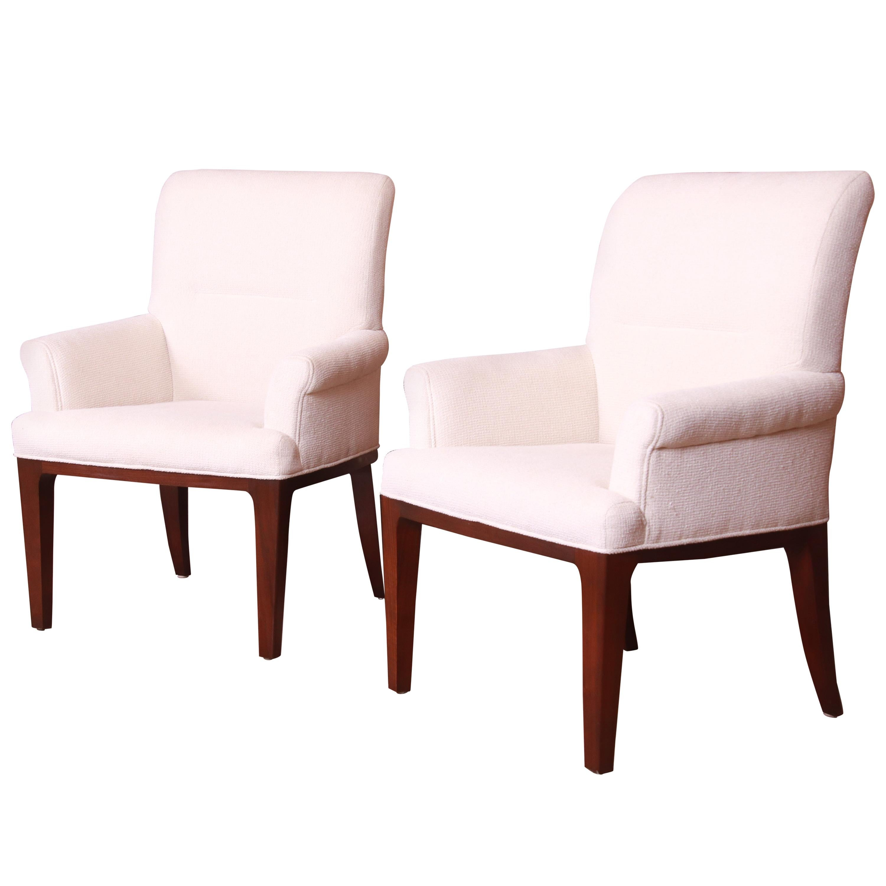 Bill Sofield for Baker Furniture Modern Upholstered Lounge Chairs, Pair