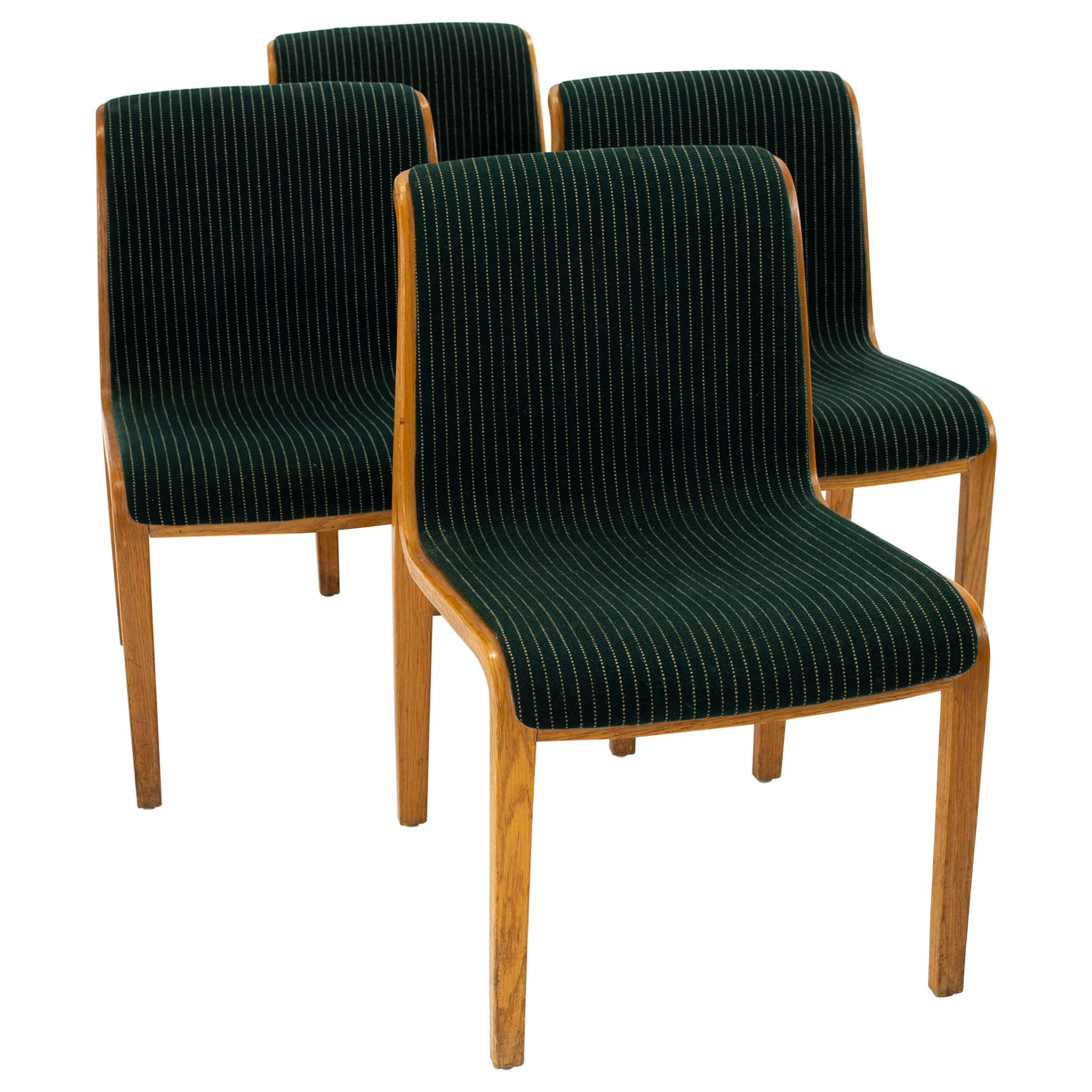Bill Stephens for Knoll Mid Century Bentwood Dining Chairs - Set of 4