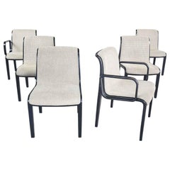 Bill Stephens Knoll 1300 Series Black Dining Chairs Mid-Century Modern Set of 6