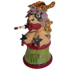 Bill Stewart Whimsical Ceramic Sculpture