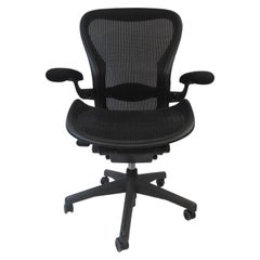 "Bill Stumpf & Don Chadwick ""Aeron"" Black Desk Chair by Herman Miller, 1990s"