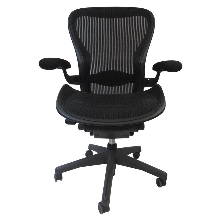 Peachy Bill Stumpf Don Chadwick Aeron Black Desk Chair By Herman Miller 1990S Forskolin Free Trial Chair Design Images Forskolin Free Trialorg
