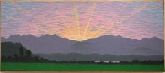 Catskill Sunset (Contemporary Hudson River School Style Landscape Painting)
