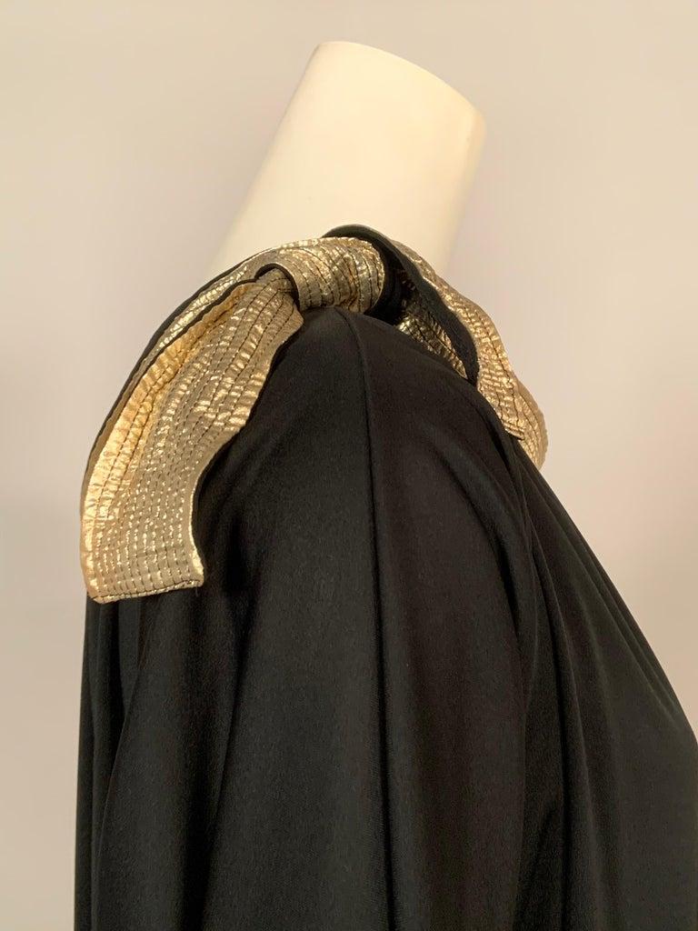 Women's Bill Tice Gold Trimmed One Shoulder Black Evening or At Home Dress For Sale