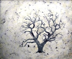 """""""Sea of Trees"""":  Large Contemporary Tree Painting"""