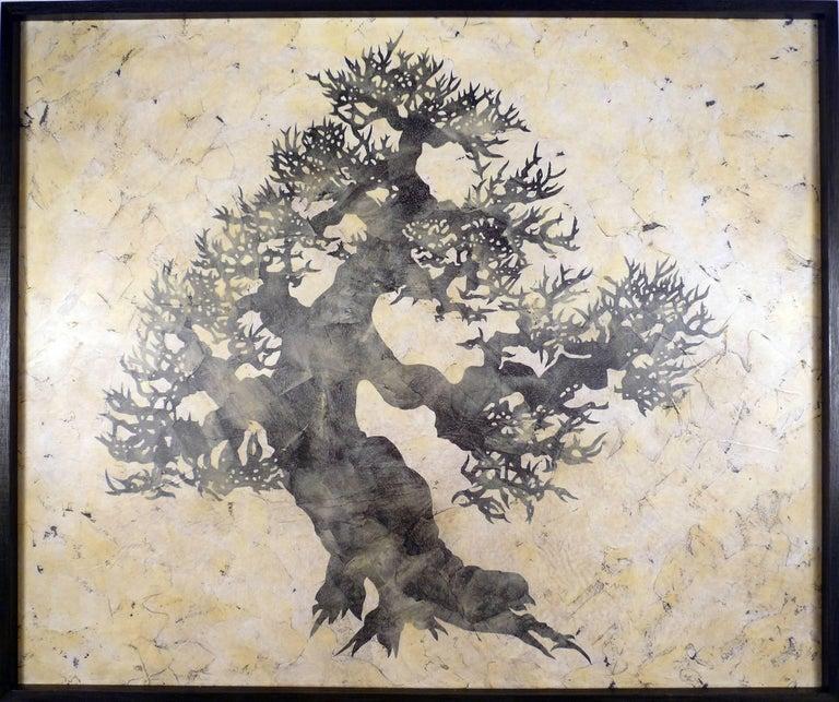 Bill Zima Still-Life Painting - Jackson St. Day.  Contemporary Tree Painting