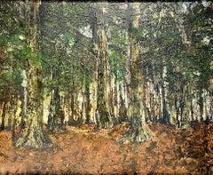 """Owls"". Contemporary Landscape Painting"
