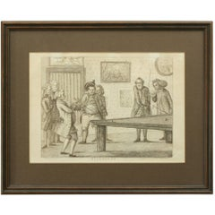 Billiard Engraving after Banbury