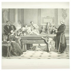 Billiard Room Print after Hildemaker