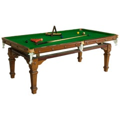 Antique Billiard, Snooker Pool Dining Table