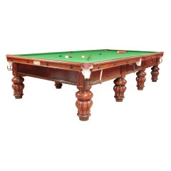 Billiard Snooker Pool Table Antique, circa 1890 Burroughes and Watts London