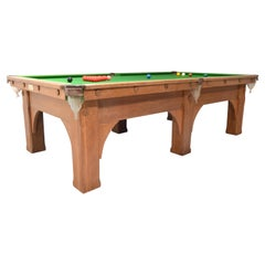 Billiard Snooker Pool Table English Oak Arts & Crafts