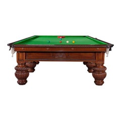 Billiard snooker pool table victorian decorative  Burroughes and Watts London