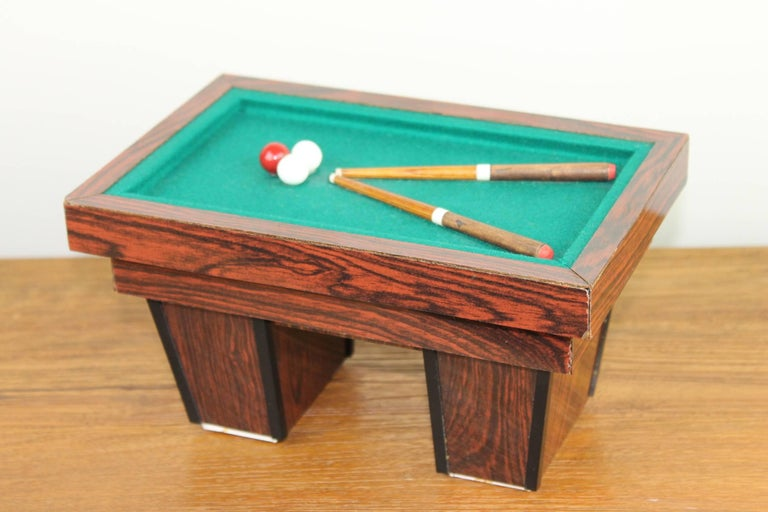 Billiard Table, Game Table, Miniature Object, 1960s For Sale 6