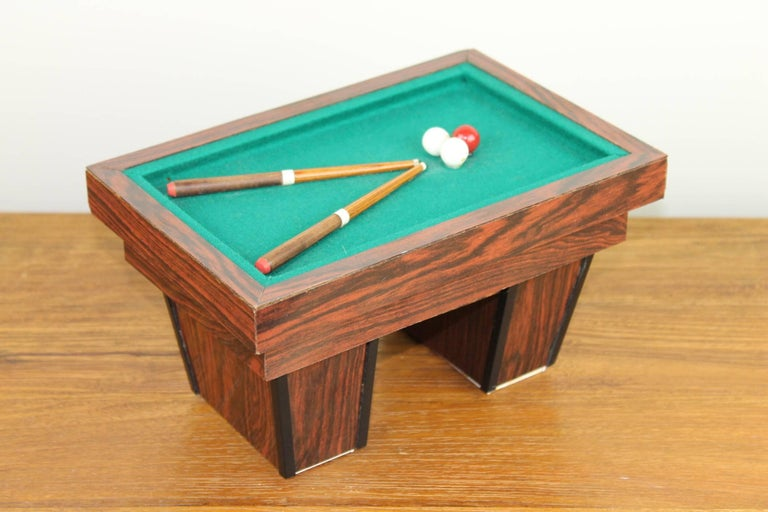 Belgian Billiard Table, Game Table, Miniature Object, 1960s For Sale
