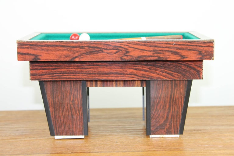 Billiard Table, Game Table, Miniature Object, 1960s For Sale 1
