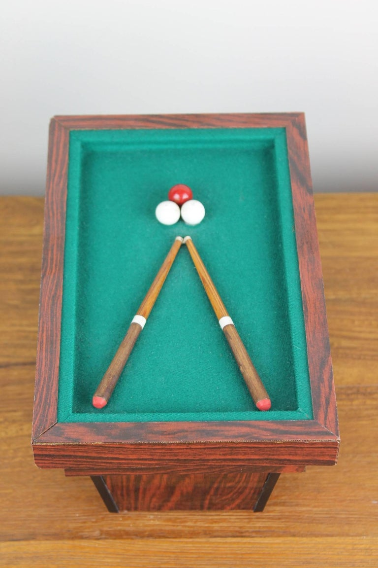Billiard Table, Game Table, Miniature Object, 1960s For Sale 2