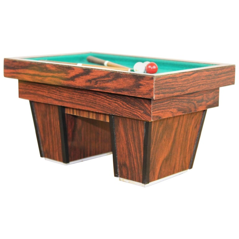 Billiard Table, Game Table, Miniature Object, 1960s For Sale