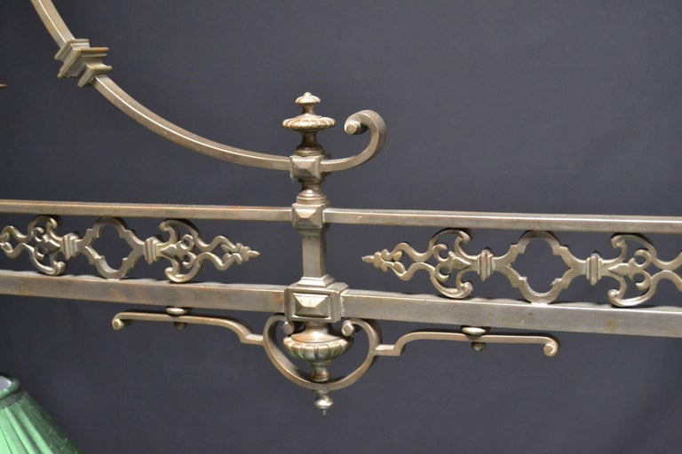 Victorian  Gothic billiard snooker pool lamp or light  brass english victorian made 1890 For Sale