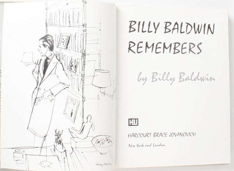 American Billy Baldwin Remembers, by Billy Baldwin 1st Edition For Sale