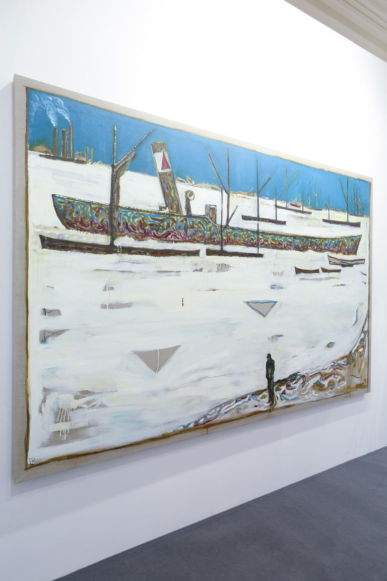 Frozen Estuary - Off Chatham, 1895 (Version Y)  - Young British Artists (YBA) Painting by Billy Childish