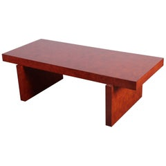 Billy Haines Burl Faux Bois Coffee Table