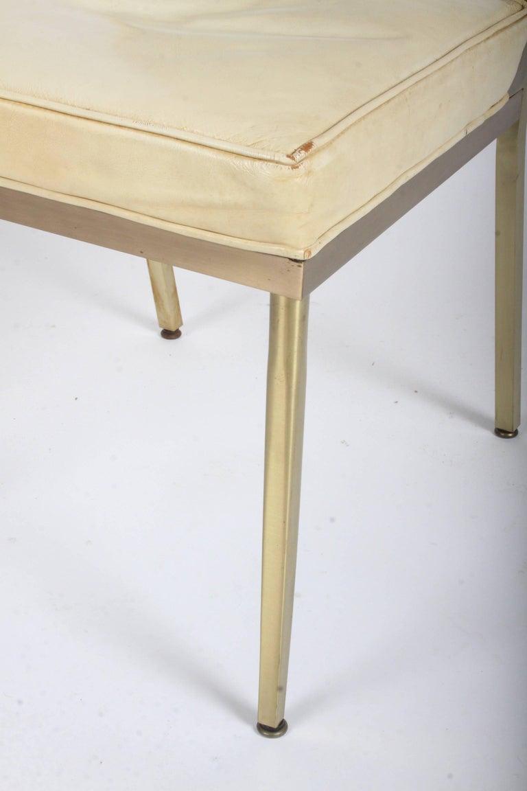 Billy Haines Style Mid-Century Modern Brass Desk Chair For Sale 5