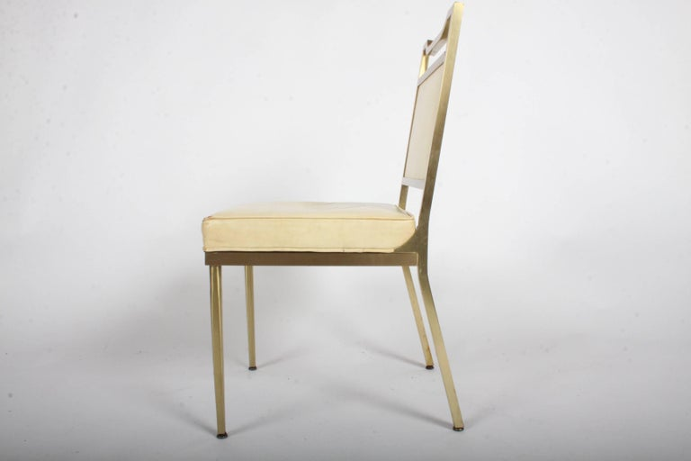 American Billy Haines Style Mid-Century Modern Brass Desk Chair For Sale