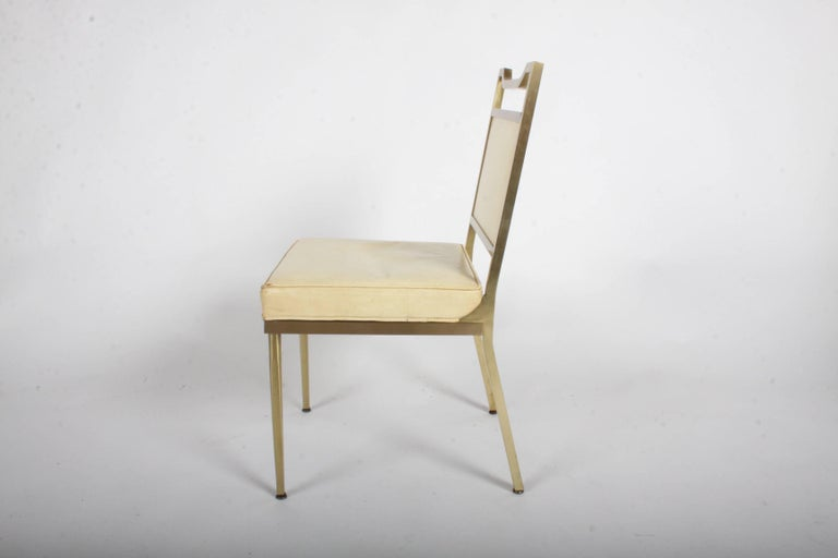 Mid-20th Century Billy Haines Style Mid-Century Modern Brass Desk Chair For Sale